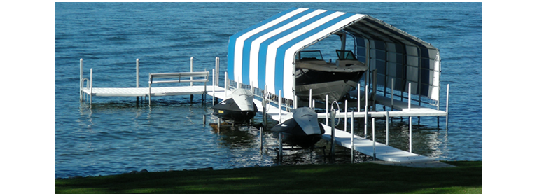 Protect your boat from the elements with these after-market canopy covers for ShoreStation lifts! Our standard covers feature a vinyl-coated nylon fabric ...  sc 1 st  Serv-a-Dock & Vertical Boat Lift Accessories u2013 Serv-a-Dock